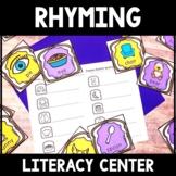 Kindergarten Rhyming Center - Rhyming Words lLiteracy Center