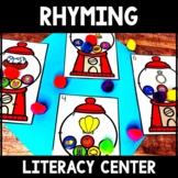 Kindergarten Rhyming Literacy Center - Gumball Rhymes