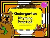 Kindergarten Rhyming Practice