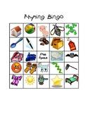 Kindergarten Rhyming Words Bingo