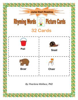 Kindergarten Rhyming Words Picture Cards