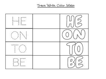 Trace, write, color, make
