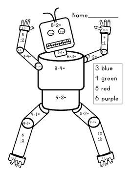 Kindergarten Robot Subtraction