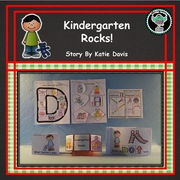 Kindergarten Rocks!:  6 Easy Prep Literacy Centers Beginni