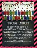 Kindergarten Rocks Chevron Pennant Bulletin Board Display