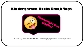 Kindergarten Rocks Emoji Tags