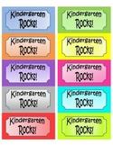 Kindergarten Rocks Labels