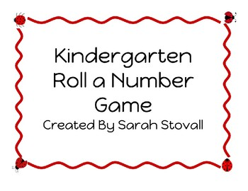 Kindergarten Roll a Number Game