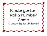 Kindergarten Roll a Number Game