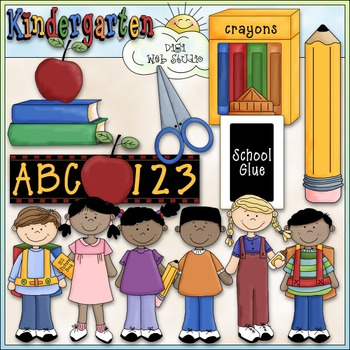 Kindergarten Round Up Clip Art - Kindergarten Clip Art - CU Clip Art & B&W