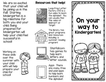 Kindergarten Round Up Handout {freebie}