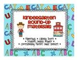 Kindergarten Round Up Materials