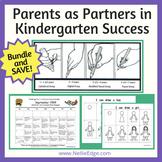 """Parents as Partners"" in Kindergarten Success Bundle and S"
