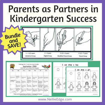 """Parents as Partners"" in Kindergarten Success Bundle and Save on All 4 Items"