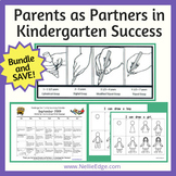 """Parents as Partners"" in Kindergarten Success Bundle and S"