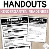Kindergarten Round Up - Open House Parent Information Read