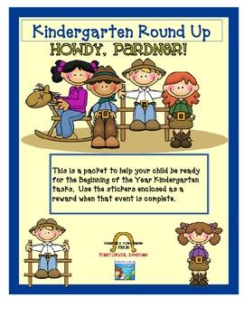 Kindergarten Round Up Western prep packet