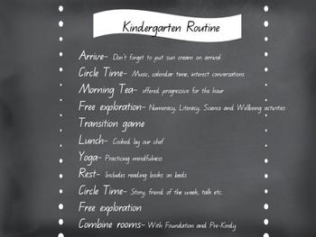 Kindergarten Routine