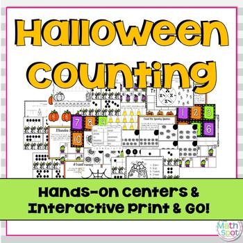Halloween Math Activities for Kindergarten