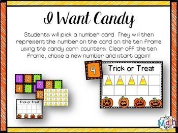 Kindergarten Halloween Math Centers