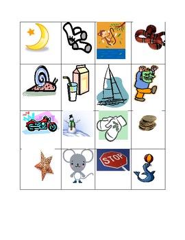 Kindergarten S and M Beginning Sound Picture Test