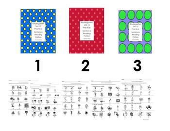 Kindergarten SAT Sentence Reading Bundle