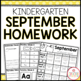 KINDERGARTEN HOMEWORK | SEPTEMBER
