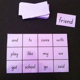 Kindergarten SIGHT WORDS BINGO games (Australian font)  3 levels of bingo games