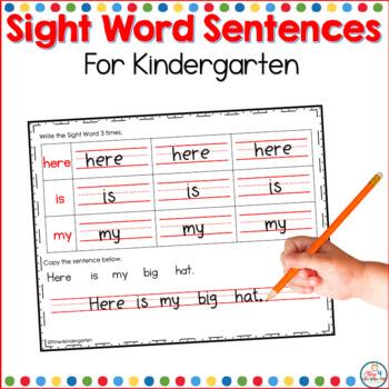 Kindergarten sight word practice sheets {Reading Street ...