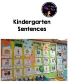 Kindergarten Weekly Sentences