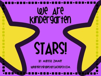 Kindergarten STARS themed posters and song