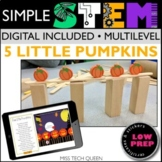 5 Little Pumpkins STEM Challenge Digital + Printable