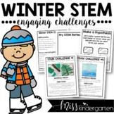 Kindergarten STEM Challenges for Winter