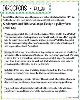 Kindergarten STEM Challenges with SciShow Kids Video Links