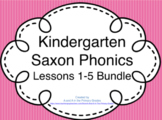 Kindergarten Saxon Phonics Lessons 1-5