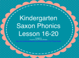 Kindergarten Saxon Phonics Lessons 16-20