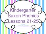 Kindergarten Saxon Phonics Lessons 21-25