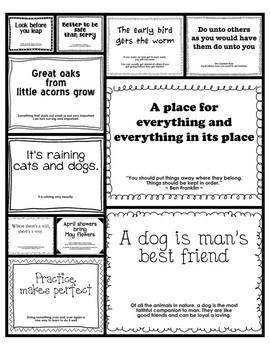 Kindergarten Sayings & Phrases Posters