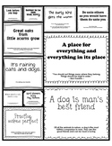 Kindergarten Sayings & Phrases Posters