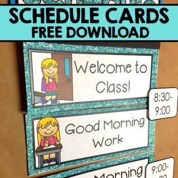 Kindergarten Schedule Cards
