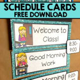 Kindergarten Schedule Cards