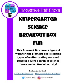 Kindergarten Science Breakout Box