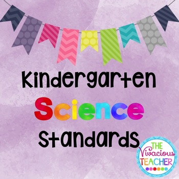 Common Core Georgia Performance Standards Posters Kindergarten Science