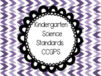 Kindergarten Science Georgia  Common Core Standards one st