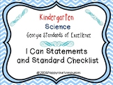Kindergarten Science I Can Statements Georgia Standards of Excellence