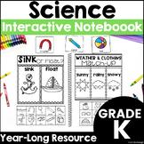 Kindergarten Science - Interactive Notebook - Distance Learning