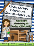 Kindergarten Science Interactive Notebook with Word Wall Set- NGSS & TEKS