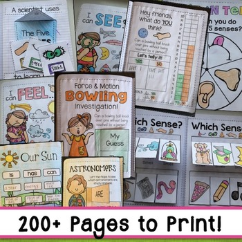 Kindergarten Science Interactive Notebooks Bundle (Distance Learning)