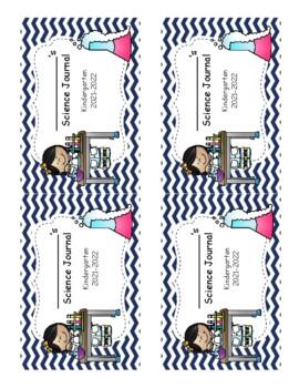 Kindergarten Science Journal Labels