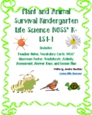 Kindergarten Life Science, Common Core Math and ELA-Plant and Animal Survival